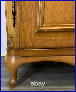 Louis XV Style Vintage French Carved 4 door Armoire Wardrobe