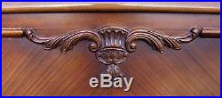 Louis XV Style Vintage French Carved Oak Double Bed Frame & Cabinets (B008)