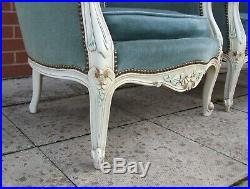 Louis XV Style Vintage Pair of French Armchairs (SLPC3)