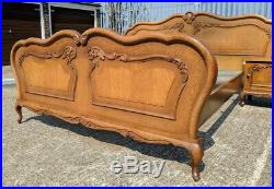 Louis XV Vintage French Double Bed with bedside tables