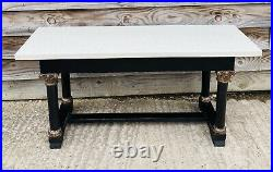 Lovely Antique 19th Century French Ebonised Marble Topped Console Table, C1900