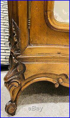 Lovely Antique French Louis XVI Walnut Mirrored Armoire / Wardrobe C1900