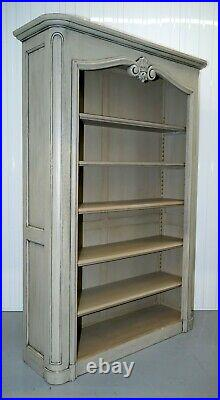 Lovely French Country House Library Bookcase Adjustable Shelves Duck Egg Blue