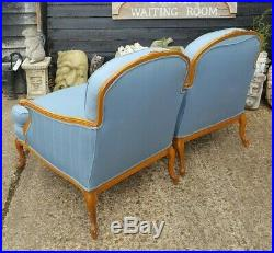 Lovely Matching Pair French Armchairs