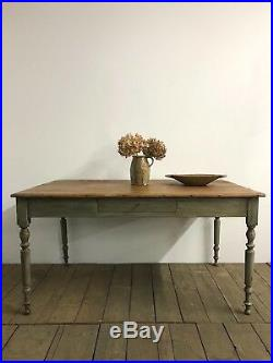 Lovely Vintage Antique French Farmhouse Kitchen Dining Table