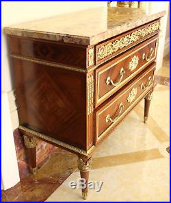 Magnificent 19c French Dore Bronze Marble Top Commode, From Christie S