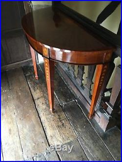 Mahogany French Art Deco Marquetry Vintage Inlaid Burl Occasional Console Table
