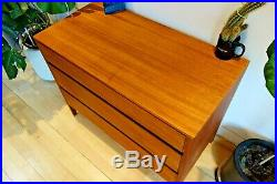 Mid 20th C Heal's London Teak Cabinet Table Chest of Drawers Danish loughborough