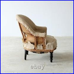 Napoleon III Armchair, French 19th Century, for Reupholstery