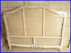 ORIGINAL FRENCH LOUIS XV STYLE DEMI-CORBEILLE DOUBLE BED WHITE FRAME corbeile