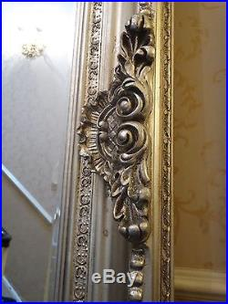 OVERSIZED! Extra Large silver gilt French antique style Wall leaner mirror 240cm