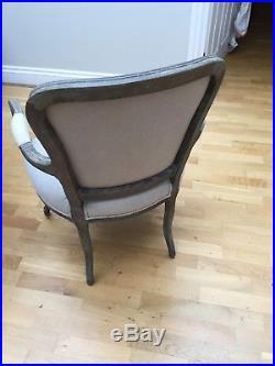 Oka Lorenzo French Salon-chair, Oak Frame