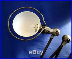 Old Jielde Industrial Lamp French 5 Arm Finish Brushed Waxed Graphite