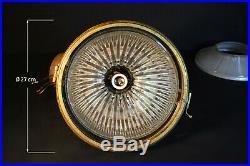 Original 1920s Reclaimed vintage HOLOPHANE Industrial pendant light lantern