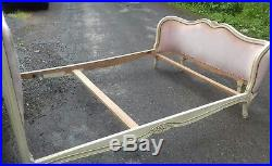Original Antique/vintage French Corbeille Double Bed From Concarneau Britanny
