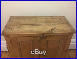 Original Vintage Antique Pine Shabby Chic French Country Cupboard