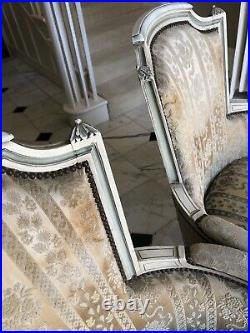 Pair Of French Louis XV1 Bergere Armchairs