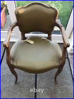 Pair Of French Louis XV Style Occasional Vintage Arm Chairs For Refurbishment