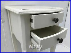 Pair Rubbed Grey 2 Drawer Bedside Chest Bedroom French Furniture Shabby SECONDS