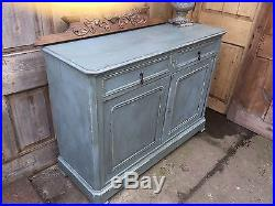 Quality French Antique Oak Painted Sideboard