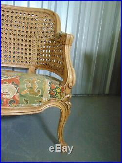 Quality Vintage Sofa By Duresta Cane Antique George French Louis Bergere Style