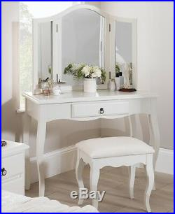 ROMANCE Dressing Table, French Antique white dressing table with drawer. QUALITY