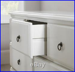 ROMANCE White Bedroom Furniture, bedside table, chest of drawers, bed, wardrobe