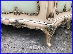 Rare, French, Antique, Vintage Original Paint Armoire, 4 Door, Suite