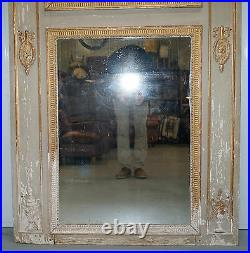 Rare French Louis XVI Period Trumeau Mirror Circa 1760 Romantic Oil Painting