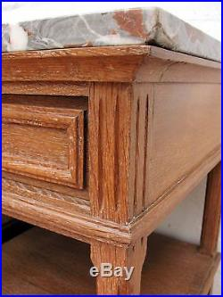 Rare Pair Of Antique French Oak Bedside Tables C1920