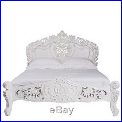 Rococo Bed Antique White King Size 5ft FRENCH BED FRENCH FURNITURE