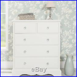 Romance 2+3 white chest of drawers. Large French 5 draw chest. QUALITY, ASSEMBLED