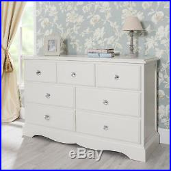 Romance large white chest of drawers. French 7 drawer chest. QUALITY, ASSEMBLED