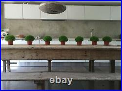 Rustic old French table and benches