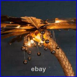 STUNNING 20thC FRENCH PALM TREE FLOOR LAMP BY MAISON JANSEN c. 1970