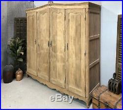 Sandblasted Vintage French Oak Wardrobe / Armoire/ Shabby chic style /