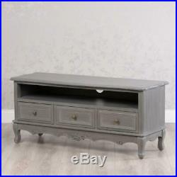 Shabby Chic Antique Style French Grey Television Tv Cabinet Unit Stand (gb547)