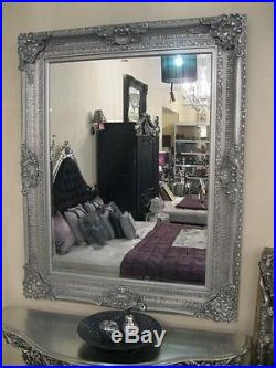 Silver Ornate Large Vintage Floor French Leaner Statement Dress Wall Mirror 6ft
