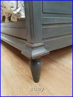 Stunning Antique French Carved Oak Double Bed C1940