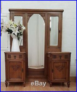 Stunning Antique French Carved Walnut Art Deco Dresser C1930