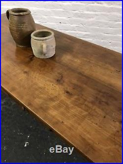 Stunning Antique French Country Farmhouse Cherrywood Kitchen Dining Table