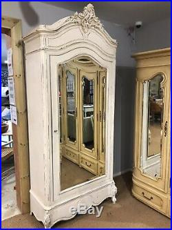 Stunning Antique Painted French Louis 1 door Armoire FREE DELIVERY WITH BIN