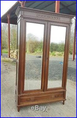 Stunning French Double Door Mirrored Door Armoire/ Wardrobe