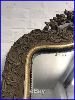 Stunning Large 19th Century Antique French Ornate Foxed Mirror