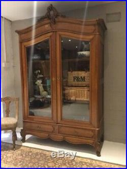 Stunning Large Antique French Armoire Wardrobe / Display Cabinet / laundry Press