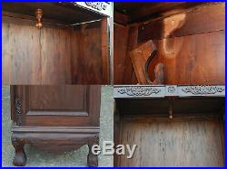 Stunning french louis provincial style wardrobe armoire tv entertainment cabinet