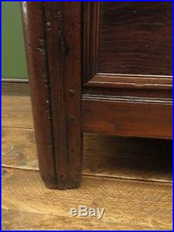 Substantial French Armoire Linen Press 19th Century Oak Cupboard well aged