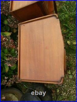 Super Pair Of Vintage Fruit Wood French Bedside Cabinet Lamp Tables