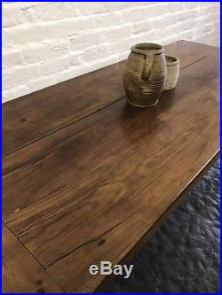 Superb Antique French Cherrywood Country Farmhouse Kitchen Dining Table