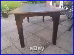 Superb Antique French/Cornish Oak Refectory Country Farmhouse Dining Table